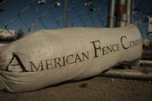 American Fence Rental Company - Sand Bag for chain link temporary fence